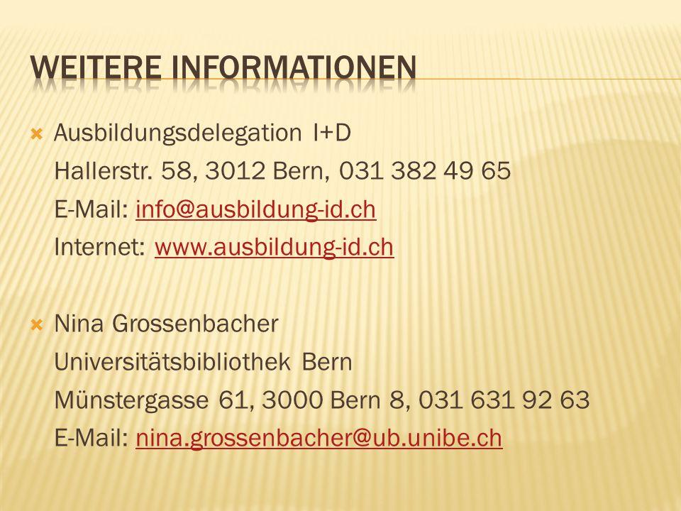 Ausbildungsdelegation I+D Hallerstr.