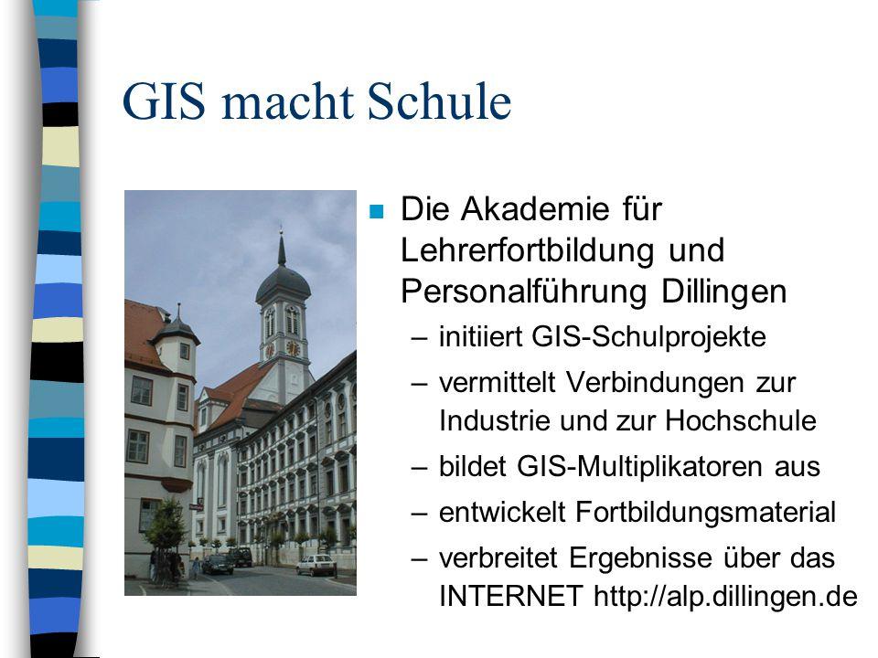 Geographische Informations-Systeme im Unterricht (GIS-Dimension) n Was sind raumbezogene Daten.