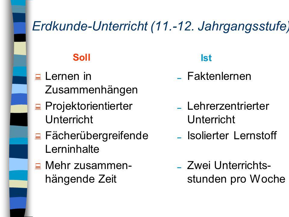 Erdkunde-Unterricht (11.-12.