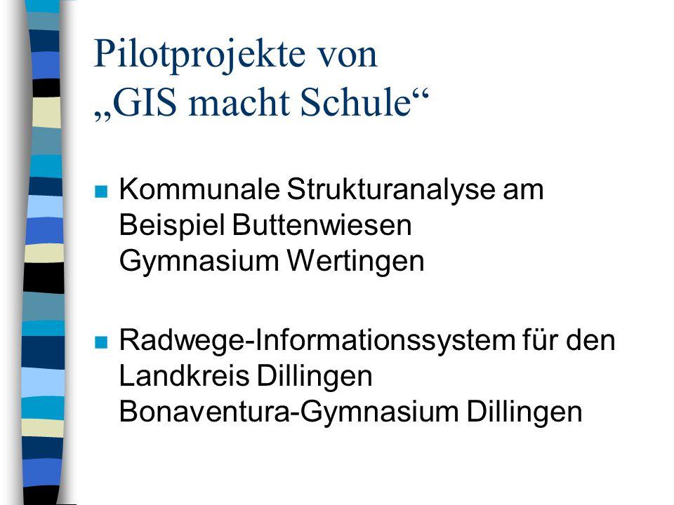 Kommunale Strukturanalyse am Beispiel Buttenwiesen - Organisation –Projekt der 11.