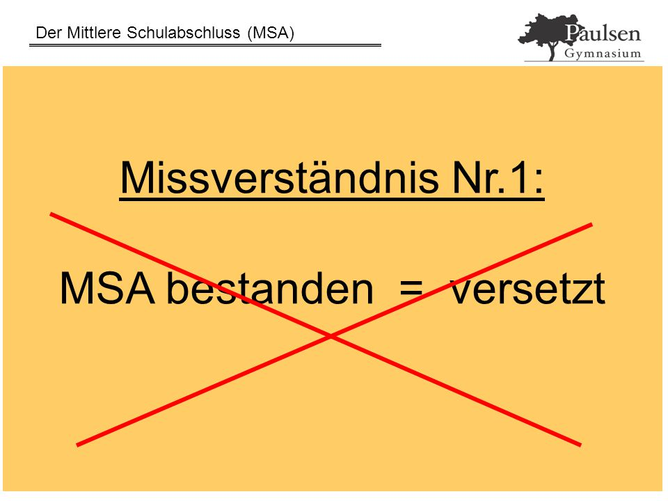 Der Mittlere Schulabschluss (MSA) 31.03.2015Grabka / Frederichs16 Präsentationsprüfung Nur Geduld.