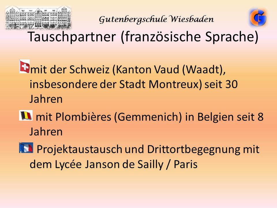 Tauschpartner (französische Sprache) mit der Schweiz (Kanton Vaud (Waadt), insbesondere der Stadt Montreux) seit 30 Jahren mit Plombières (Gemmenich)