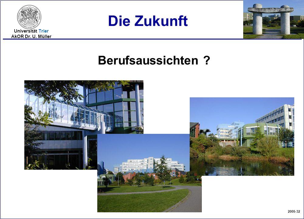 2005-32 Universität Trier AkOR Dr. U. Müller Die Zukunft Berufsaussichten ?