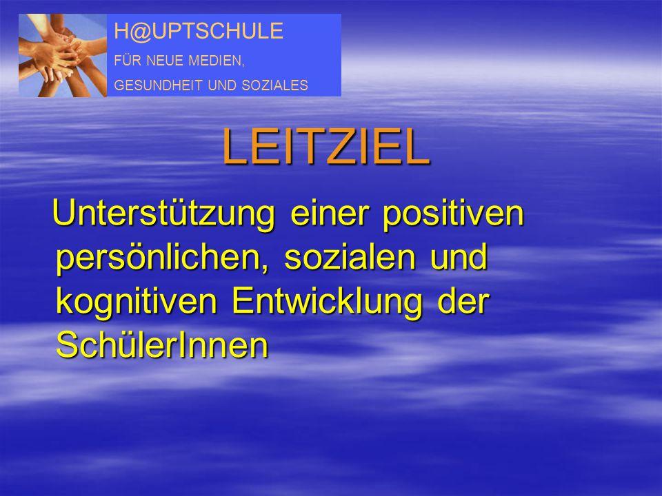 H@UPTSCHULE FÜR NEUE MEDIEN, GESUNDHEIT UND SOZIALES LEITZIEL Unterstützung einer positiven persönlichen, sozialen und kognitiven Entwicklung der Schü