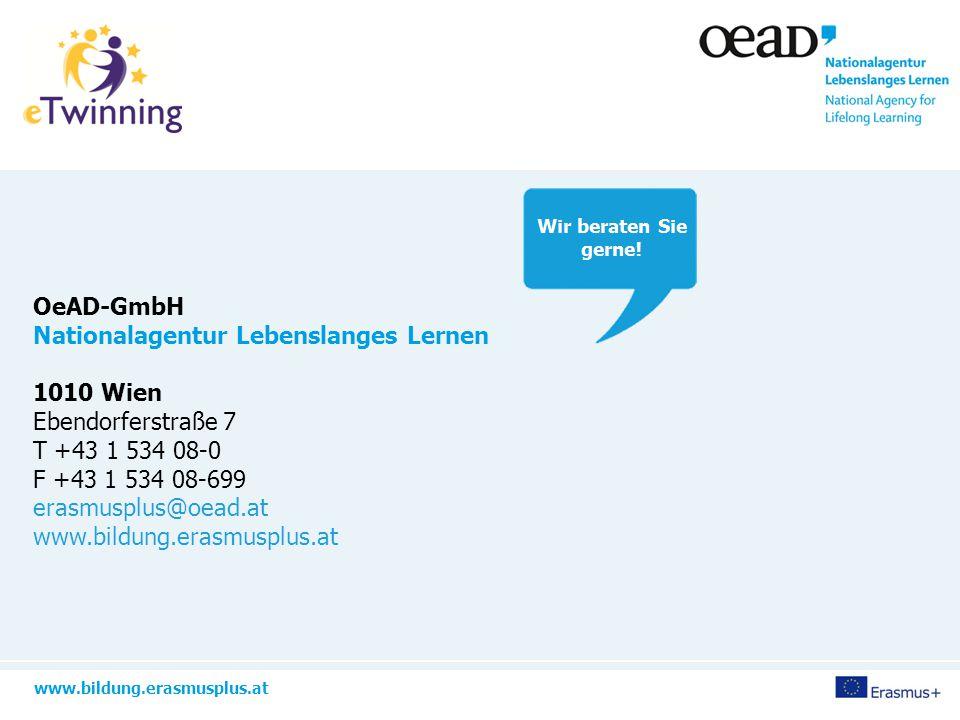www.bildung.erasmusplus.at OeAD-GmbH Nationalagentur Lebenslanges Lernen 1010 Wien Ebendorferstraße 7 T +43 1 534 08-0 F +43 1 534 08-699 erasmusplus@oead.at www.bildung.erasmusplus.at