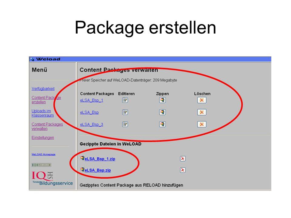 Package erstellen
