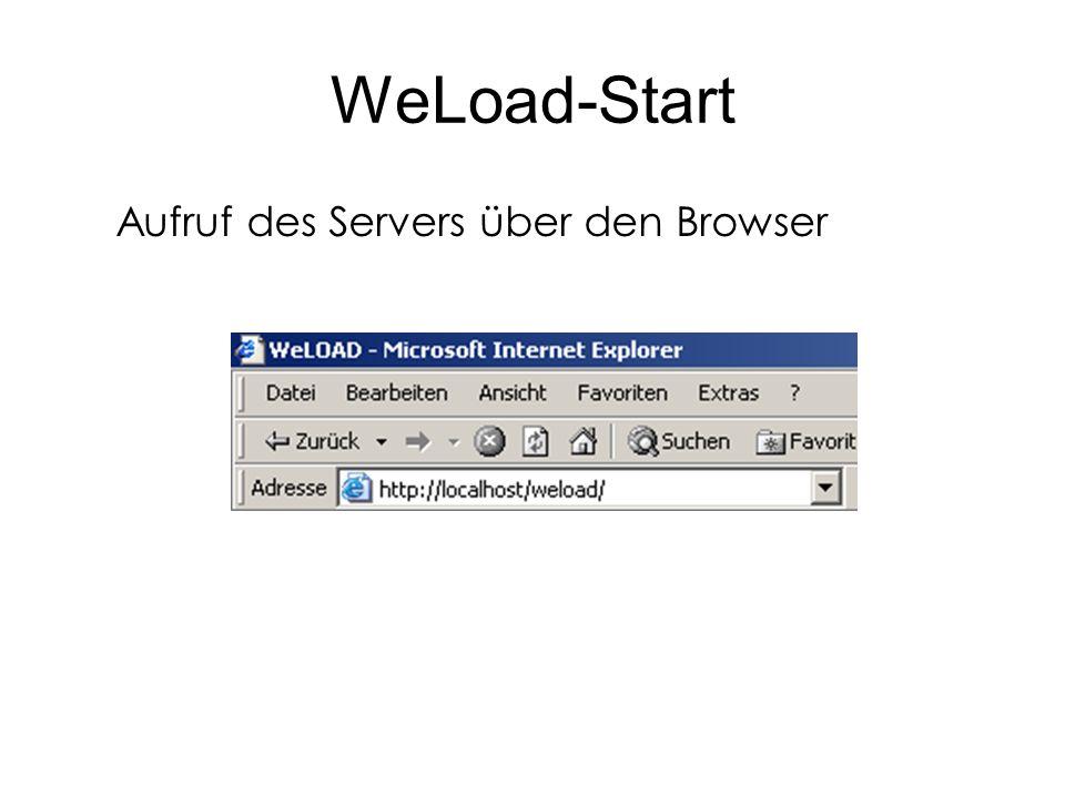 WeLoad-Start Eingabe des Passwortes.