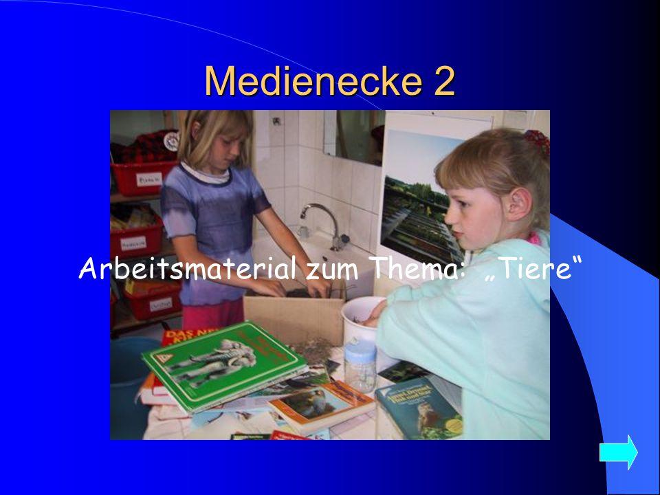 """Medienecke 2 Arbeitsmaterial zum Thema: """"Tiere"""