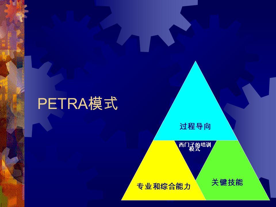 50 PETRA 模式 关键技能 专业和综合能力 过程导向 西门子的培训 模式
