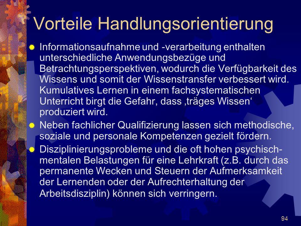 94  Informationsaufnahme und -verarbeitung enthalten unterschiedliche Anwendungsbezüge und Betrachtungsperspektiven, wodurch die Verfügbarkeit des Wi
