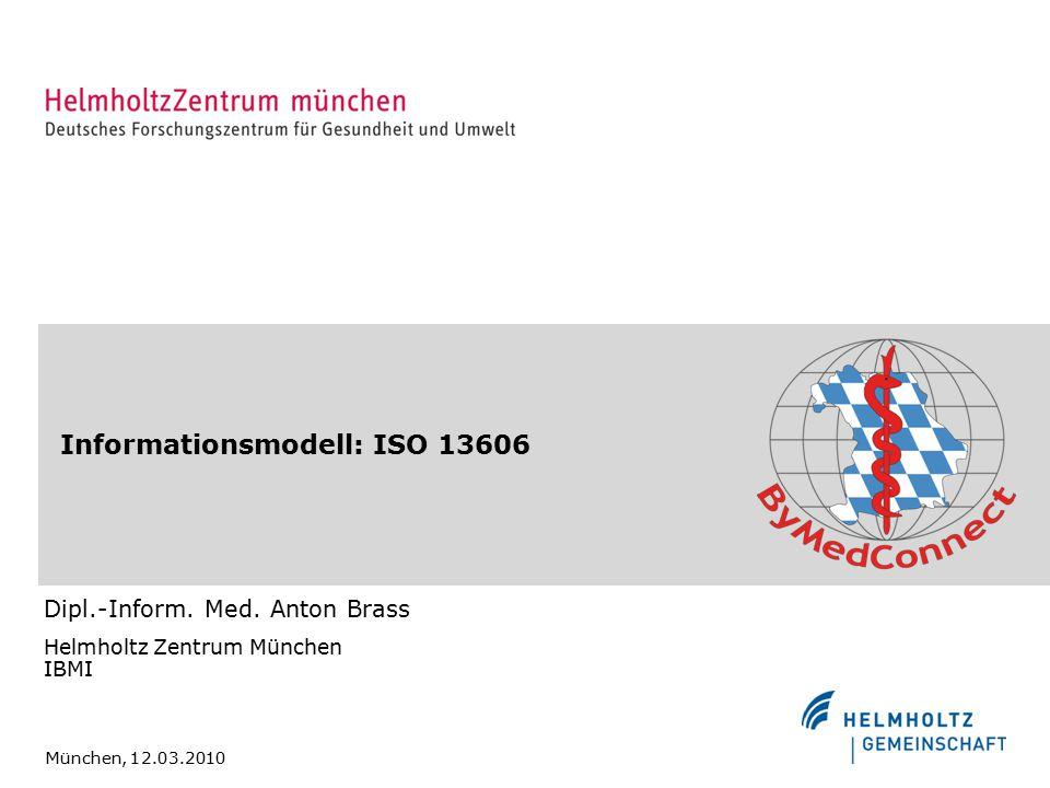 Informationsmodell: ISO 13606 Dipl.-Inform.Med.