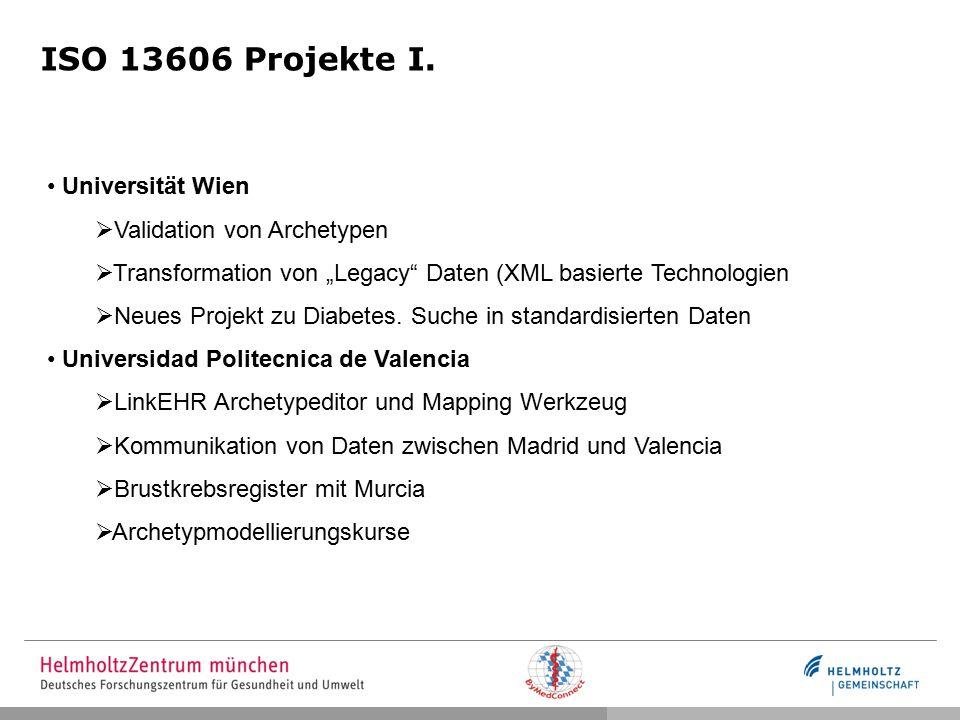 ISO 13606 Projekte I.