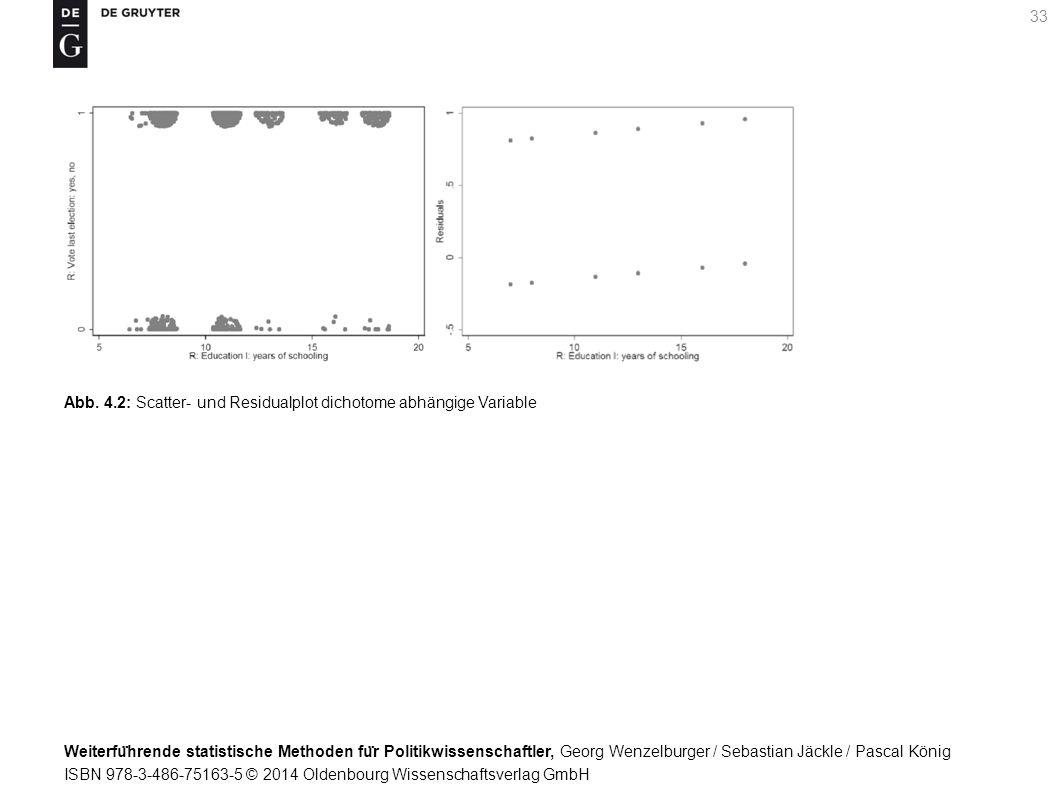 Weiterfu ̈ hrende statistische Methoden fu ̈ r Politikwissenschaftler, Georg Wenzelburger / Sebastian Jäckle / Pascal König ISBN 978-3-486-75163-5 © 2014 Oldenbourg Wissenschaftsverlag GmbH 33 Abb.