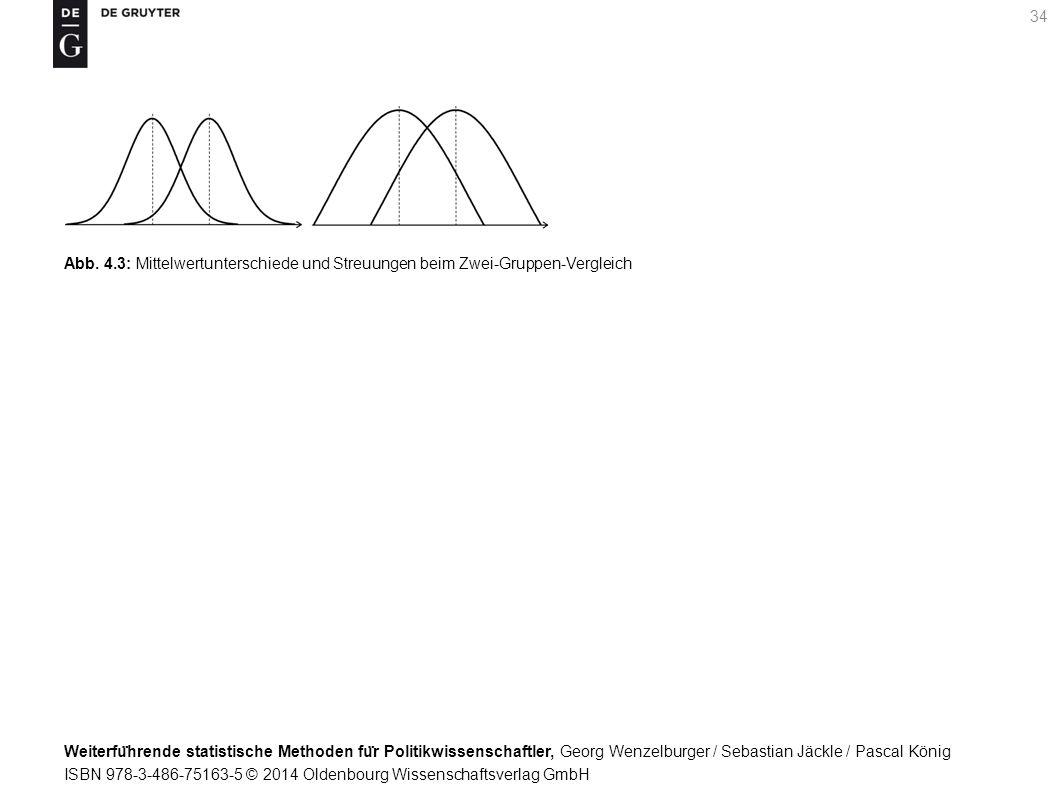 Weiterfu ̈ hrende statistische Methoden fu ̈ r Politikwissenschaftler, Georg Wenzelburger / Sebastian Jäckle / Pascal König ISBN 978-3-486-75163-5 © 2014 Oldenbourg Wissenschaftsverlag GmbH 34 Abb.