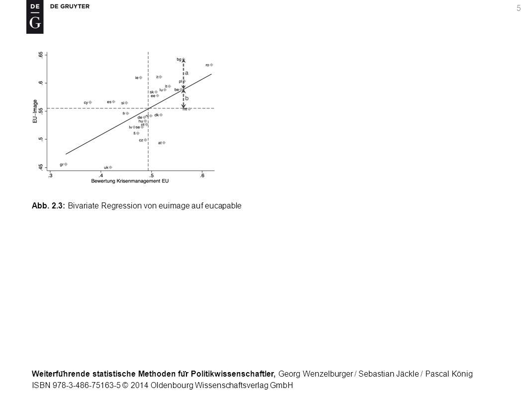 Weiterfu ̈ hrende statistische Methoden fu ̈ r Politikwissenschaftler, Georg Wenzelburger / Sebastian Jäckle / Pascal König ISBN 978-3-486-75163-5 © 2014 Oldenbourg Wissenschaftsverlag GmbH 5 Abb.