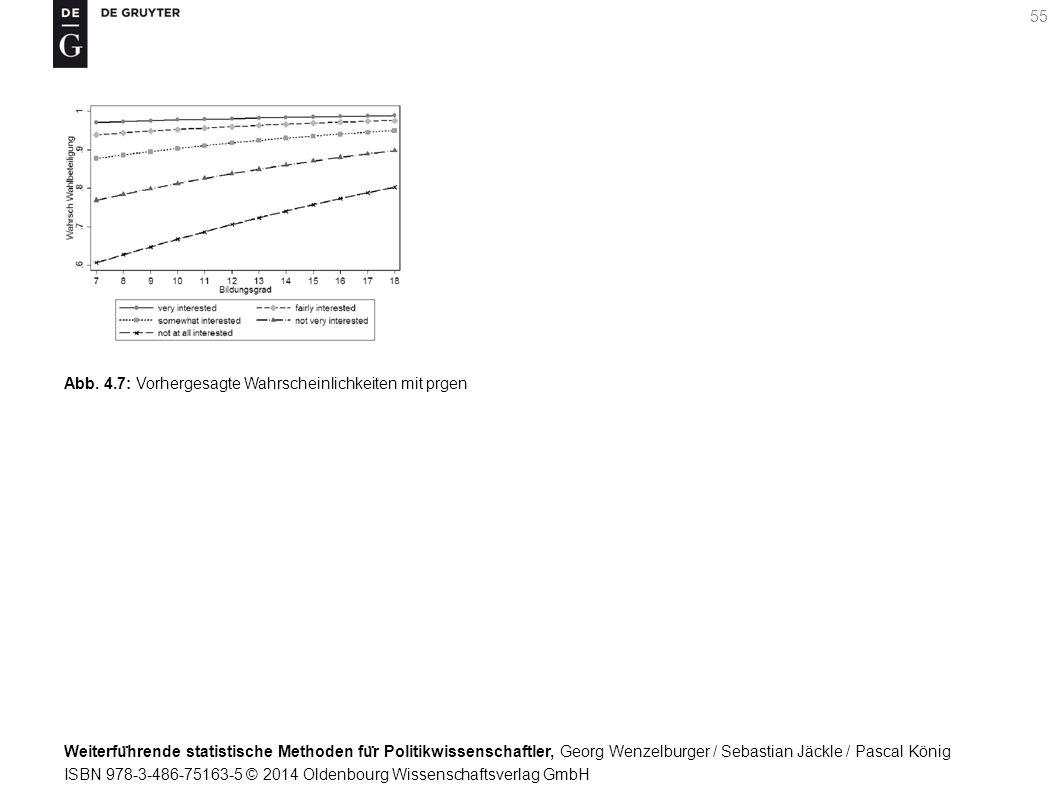 Weiterfu ̈ hrende statistische Methoden fu ̈ r Politikwissenschaftler, Georg Wenzelburger / Sebastian Jäckle / Pascal König ISBN 978-3-486-75163-5 © 2014 Oldenbourg Wissenschaftsverlag GmbH 55 Abb.