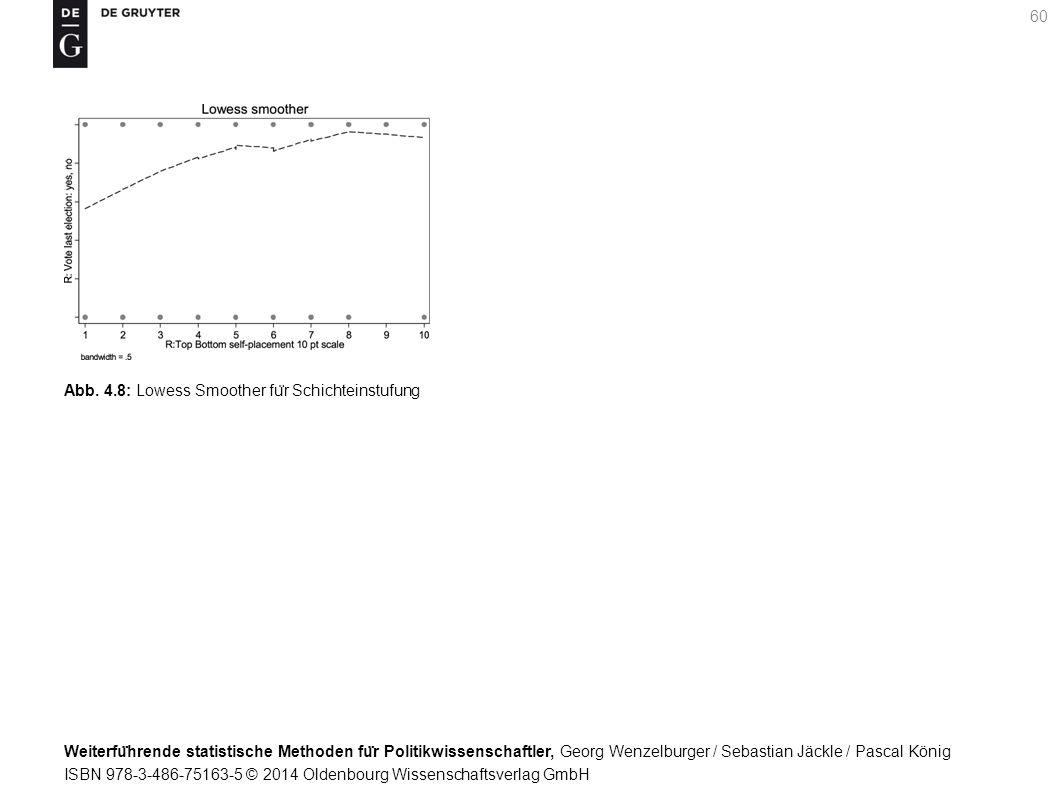 Weiterfu ̈ hrende statistische Methoden fu ̈ r Politikwissenschaftler, Georg Wenzelburger / Sebastian Jäckle / Pascal König ISBN 978-3-486-75163-5 © 2014 Oldenbourg Wissenschaftsverlag GmbH 60 Abb.