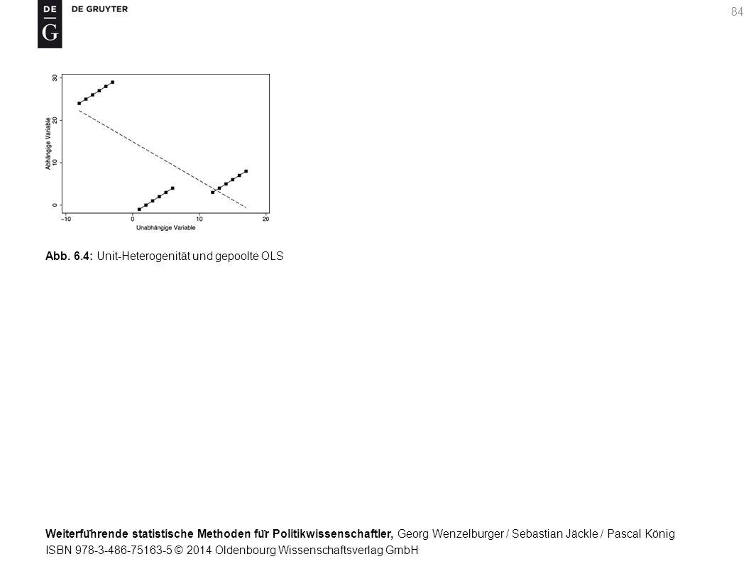 Weiterfu ̈ hrende statistische Methoden fu ̈ r Politikwissenschaftler, Georg Wenzelburger / Sebastian Jäckle / Pascal König ISBN 978-3-486-75163-5 © 2014 Oldenbourg Wissenschaftsverlag GmbH 84 Abb.