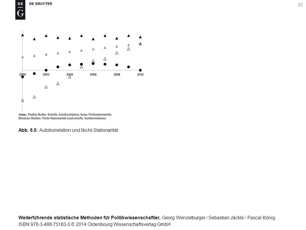 Weiterfu ̈ hrende statistische Methoden fu ̈ r Politikwissenschaftler, Georg Wenzelburger / Sebastian Jäckle / Pascal König ISBN 978-3-486-75163-5 © 2014 Oldenbourg Wissenschaftsverlag GmbH 85 Abb.
