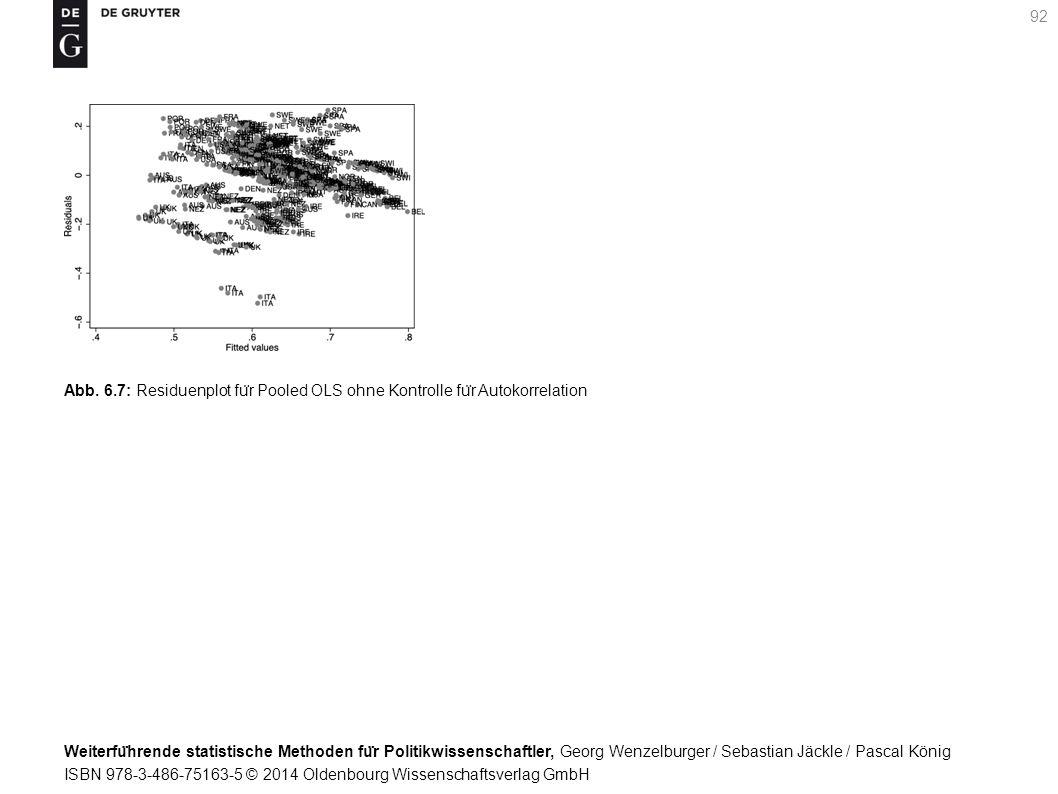 Weiterfu ̈ hrende statistische Methoden fu ̈ r Politikwissenschaftler, Georg Wenzelburger / Sebastian Jäckle / Pascal König ISBN 978-3-486-75163-5 © 2014 Oldenbourg Wissenschaftsverlag GmbH 92 Abb.