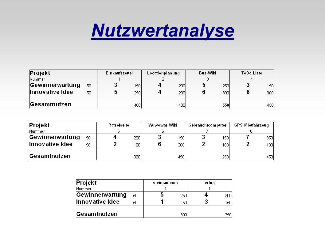 Nutzwertanalyse