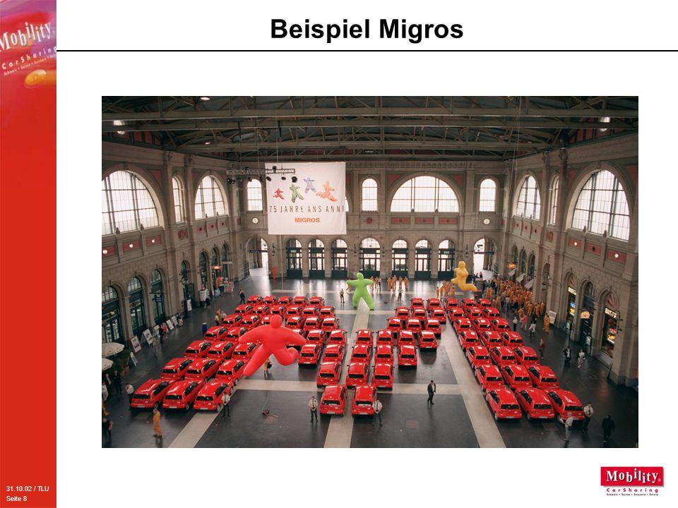 31.10.02 / TLU Seite 9 Beispiel Hertz Schweiz AG