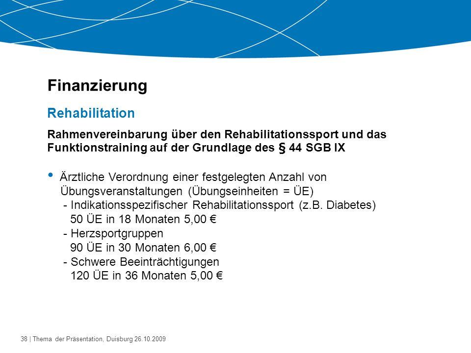 39   Thema der Präsentation, Duisburg 26.10.2009 Bestandsanalyse - Welche Angebote bestehen bereits.