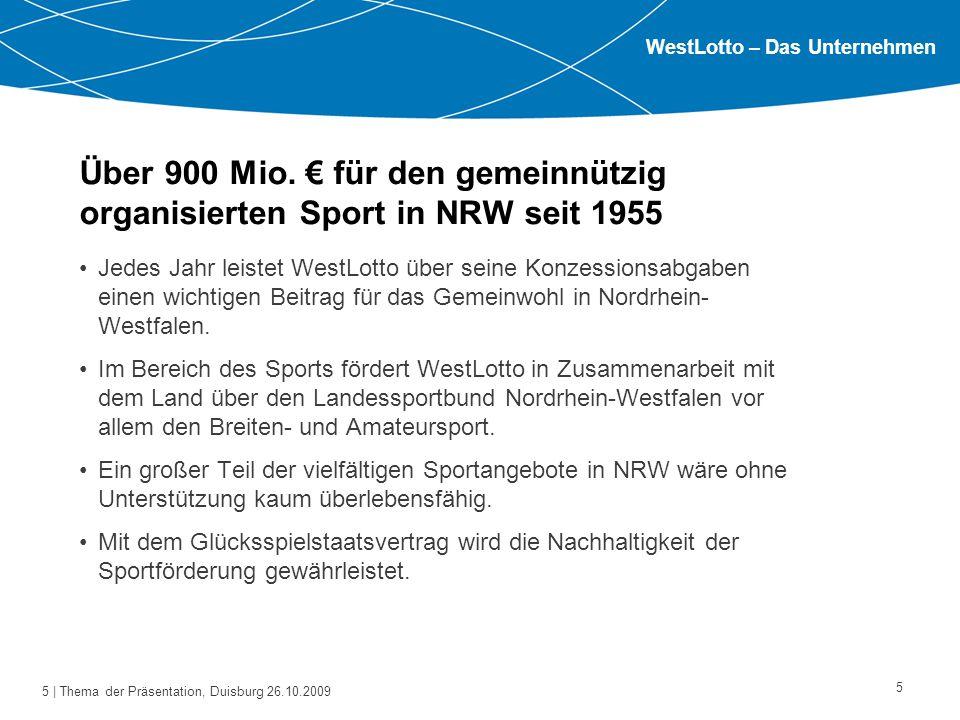6   Thema der Präsentation, Duisburg 26.10.2009 Brauchen wir Angebote für Ältere in unserem Sportverein ?