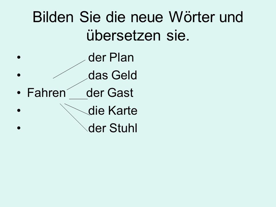 Füllen Sie die Lücken.1. Besonders schnell kann man nach Deutschland mit dem … kommen, denn das ….