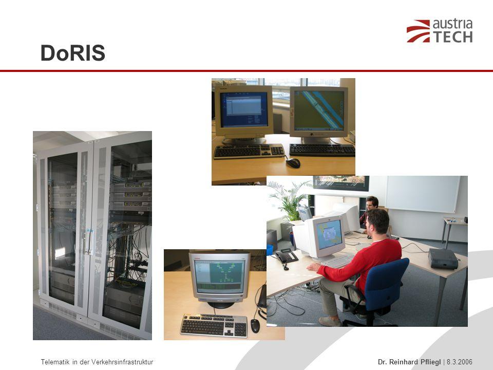Telematik in der Verkehrsinfrastruktur Dr. Reinhard Pfliegl | 8.3.2006 DoRIS