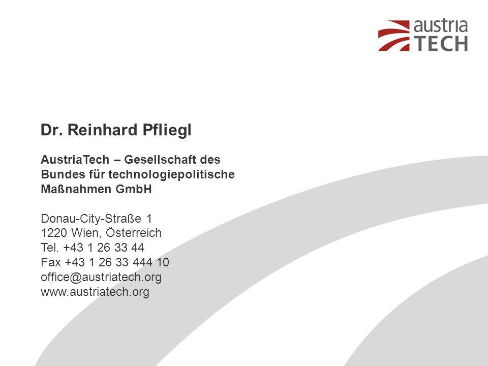 AustriaTech – Gesellschaft des Bundes für technologiepolitische Maßnahmen GmbH Donau-City-Straße 1 1220 Wien, Österreich Tel. +43 1 26 33 44 Fax +43 1