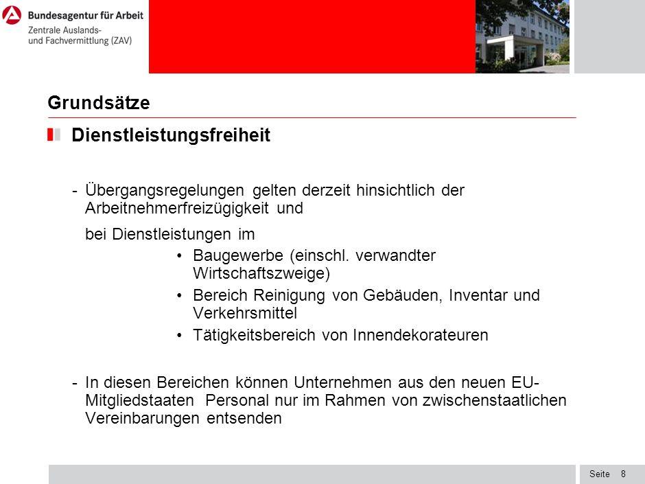 Seite19 Prüftatbestände im Werkvertragsverfahren Kontingent - Ausländische Werkvertragsunternehmen können nur gemäß den in der Regierungsvereinbarung festgelegten Höchstzahlen Arbeitnehmer nach Deutschland entsenden.