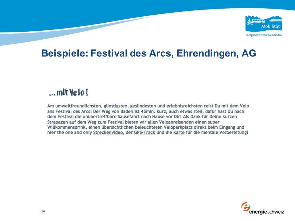 Beispiele: Festival des Arcs, Ehrendingen, AG 14