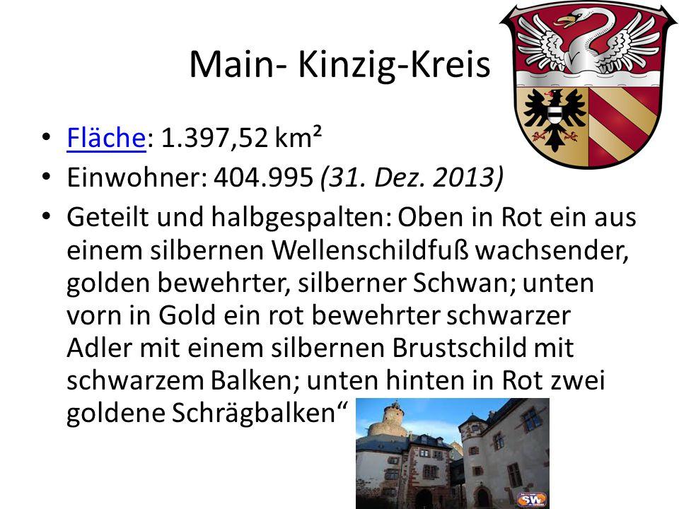 Main- Kinzig-Kreis Fläche: 1.397,52 km² Fläche Einwohner: 404.995 (31.