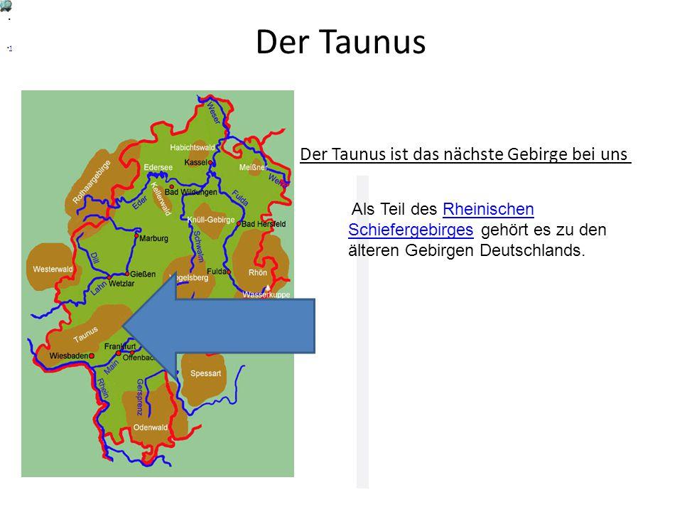 Der Taunus Der Taunus ist das nächste Gebirge bei uns.