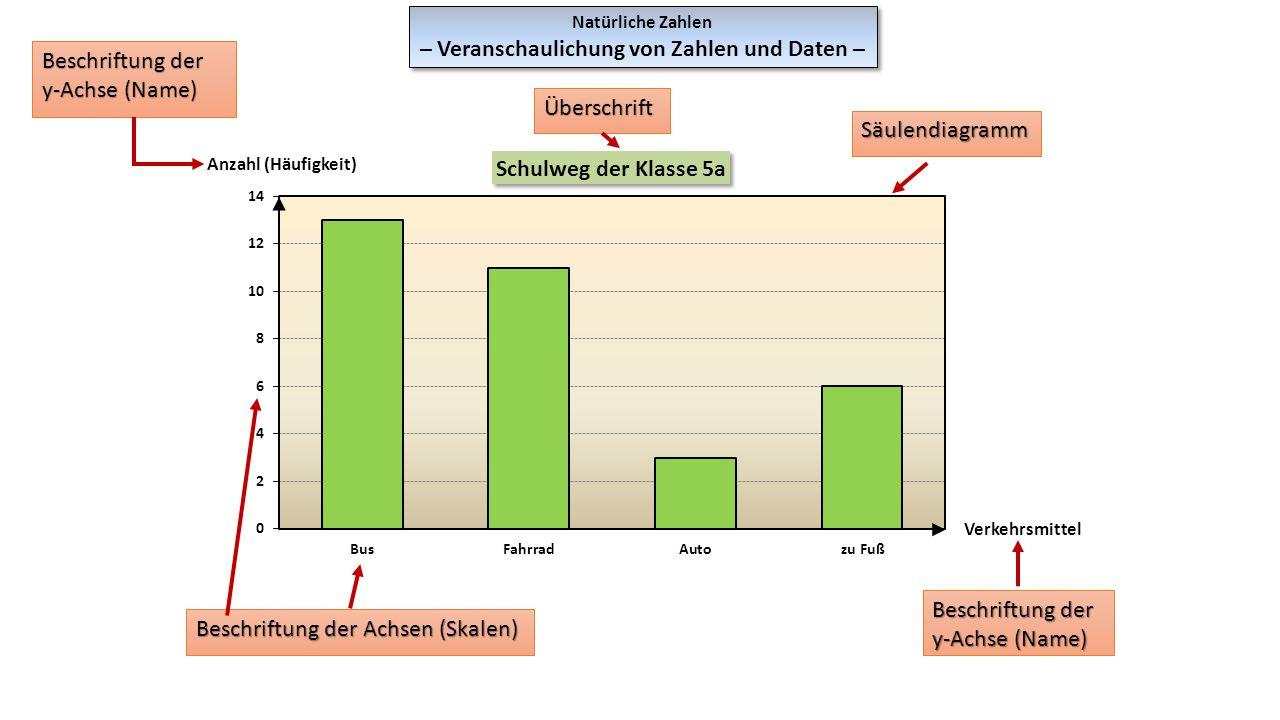 Natürliche Zahlen – Veranschaulichung von Zahlen und Daten – Natürliche Zahlen – Veranschaulichung von Zahlen und Daten – Beschriftung der y-Achse (Na