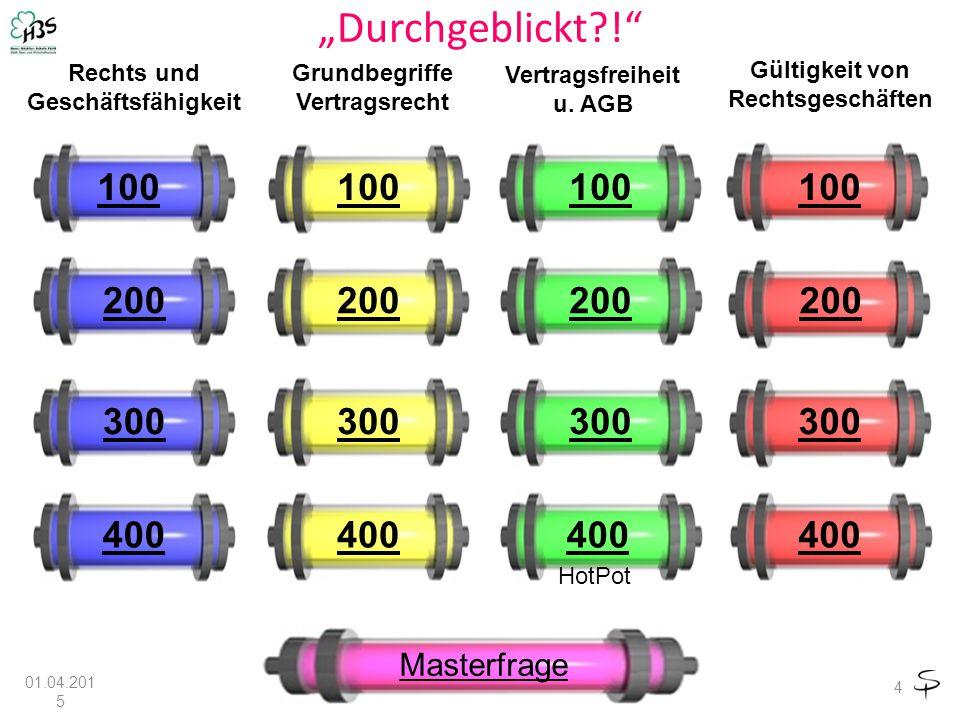 """""""Durchgeblickt?! 4 100 200 300 400 Rechts und Geschäftsfähigkeit Grundbegriffe Vertragsrecht Vertragsfreiheit u."""