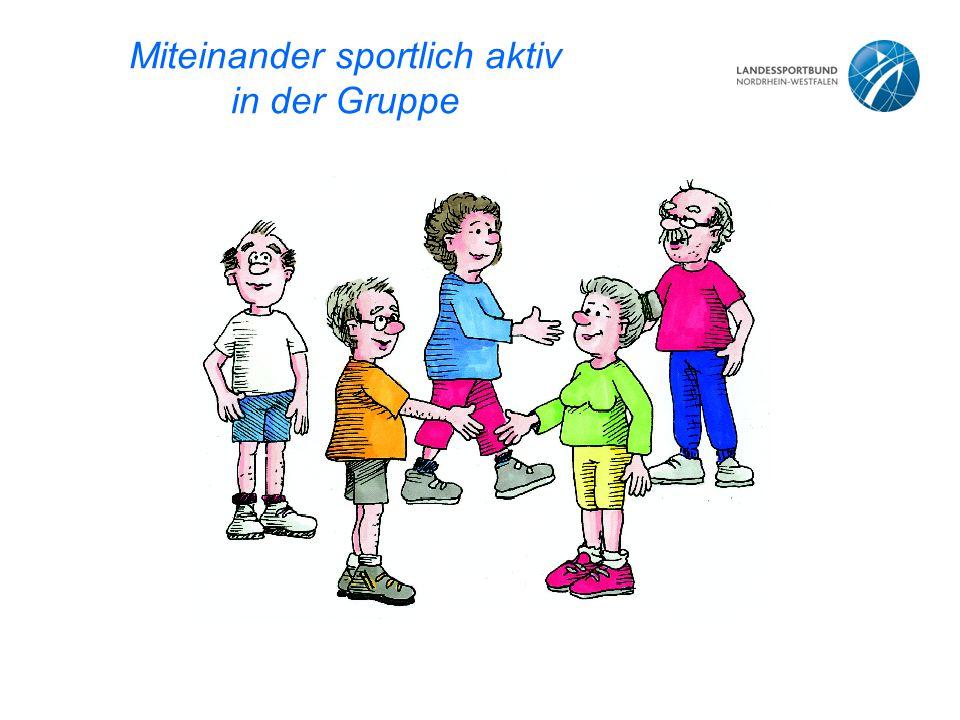 Miteinander sportlich aktiv in der Gruppe