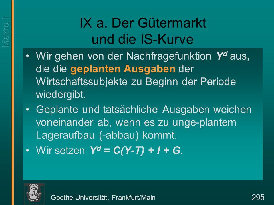 Goethe-Universität, Frankfurt/Main 295 IX a.