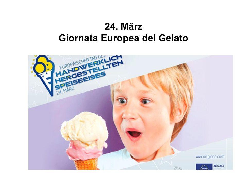 24. März Giornata Europea del Gelato