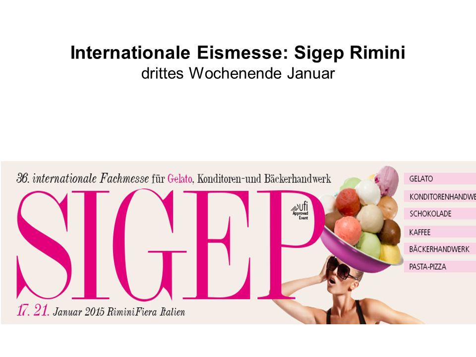 Internationale Eismesse: Sigep Rimini drittes Wochenende Januar