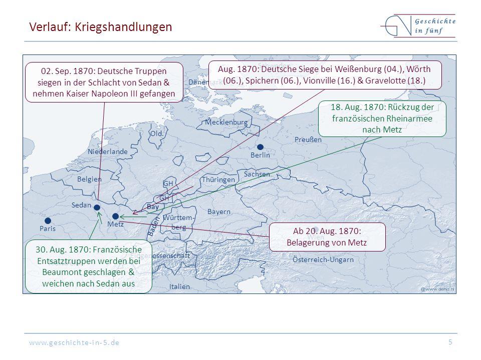 www.geschichte-in-5.de Verlauf: Kriegshandlungen 5 Vionville etc.