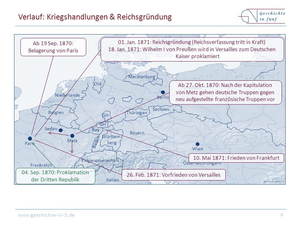 www.geschichte-in-5.de Verlauf: Kriegshandlungen & Reichsgründung 6 Vionville etc.