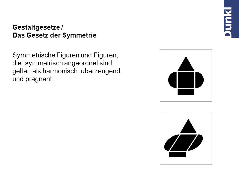 Z. B. Logo einer Facilityfirma Gestaltgesetze / Das Gesetz der Bewegung Teile, die sich gleich oder ähnlich bewegen, oder die sich im Gegensatz zu and