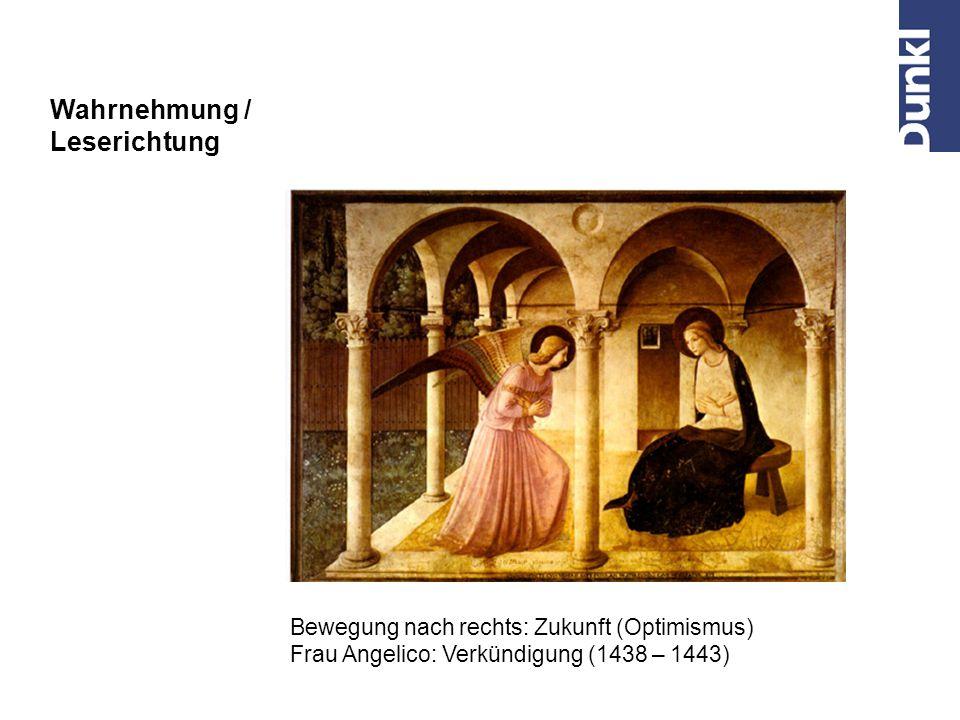Wahrnehmung / Positiv – Negativ Obere Bildhälfte: Himmel – leicht, positiv, gut Untere Bildhälfte: Hölle – schwer, negativ, böse Hieronymus Bosch, Weltgerichtstriptychon (1504-1508)