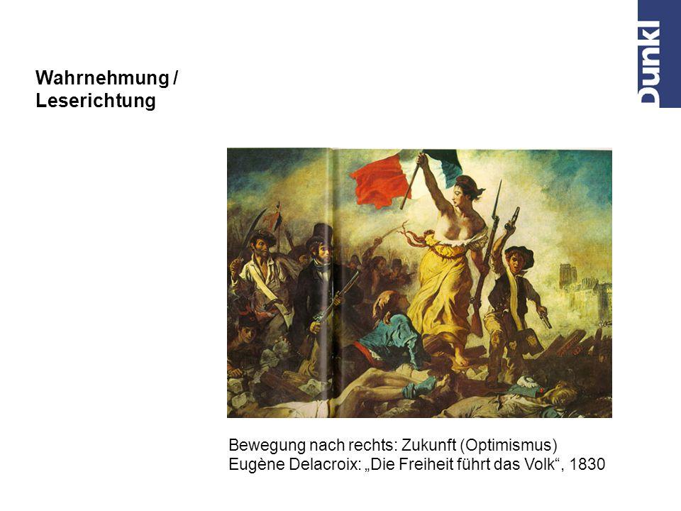 Wahrnehmung / Leserichtung Bewegung nach rechts: Zukunft (Optimismus) Frau Angelico: Verkündigung (1438 – 1443)