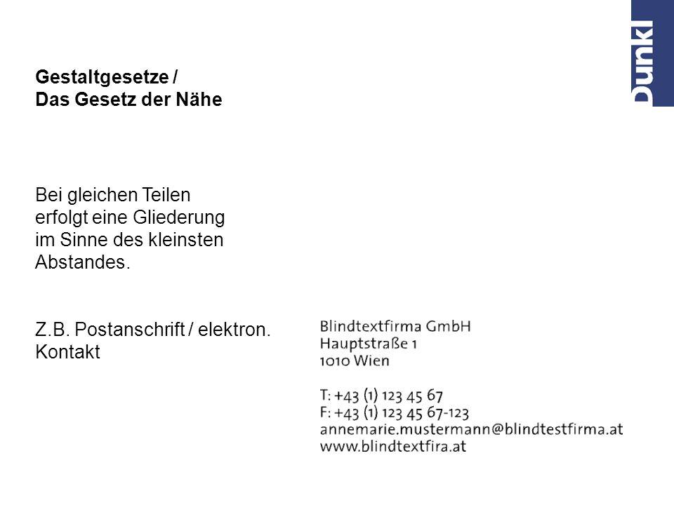Z.B.Postanschrift / elektron.