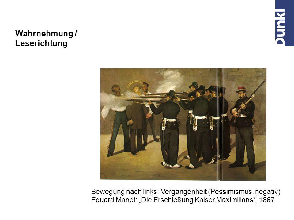 Bewegung nach links: Zukunft (positiv, unbeschwert) Spiegelung des Bildes von Ilja Repin Wahrnehmung / Leserichtung