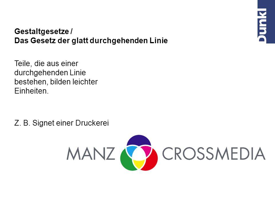 Wahrnehmung / Zusammengehörigkeit Adressblock und Logo liegen auf einer Achse, also brauchen wir keine verbindende Linie.