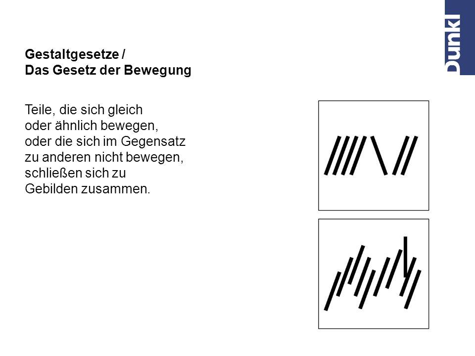 Z. B. Signet einer Druckerei Gestaltgesetze / Das Gesetz der glatt durchgehenden Linie Teile, die aus einer durchgehenden Linie bestehen, bilden leich